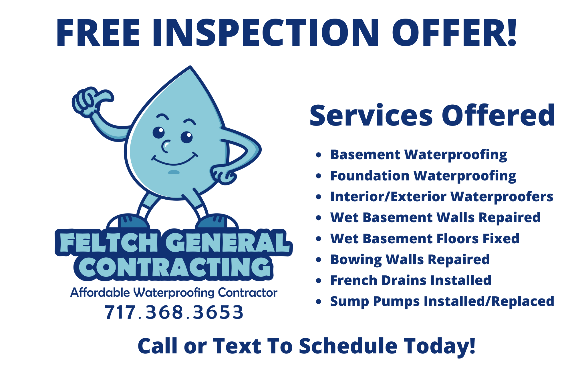 Free Waterproofing Inspection Offer for